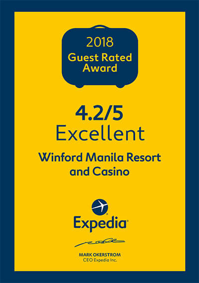 Expedia – Guest Rated Award 2018 Excellent