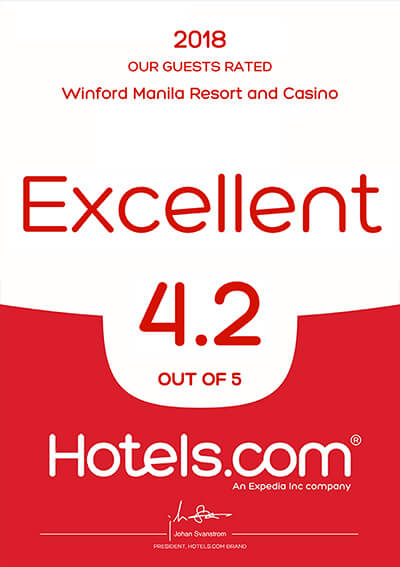Hotels.com – Our Guest Rated Excellent 2018