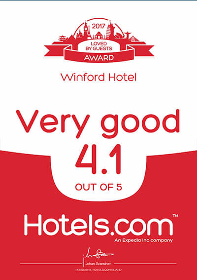 Hotels.com – Loved By Guest Award 2017